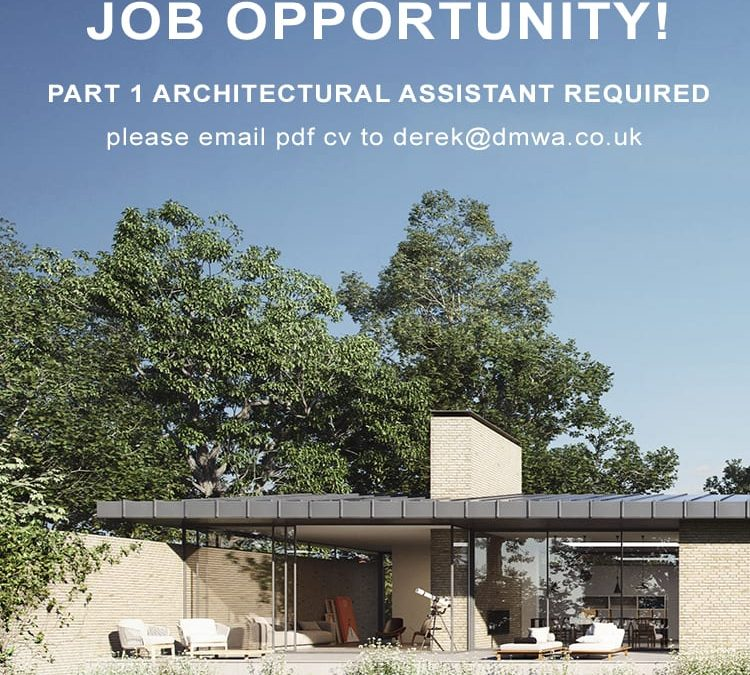 Part 1 Architectural Assistant Opportunity at DMW Architects