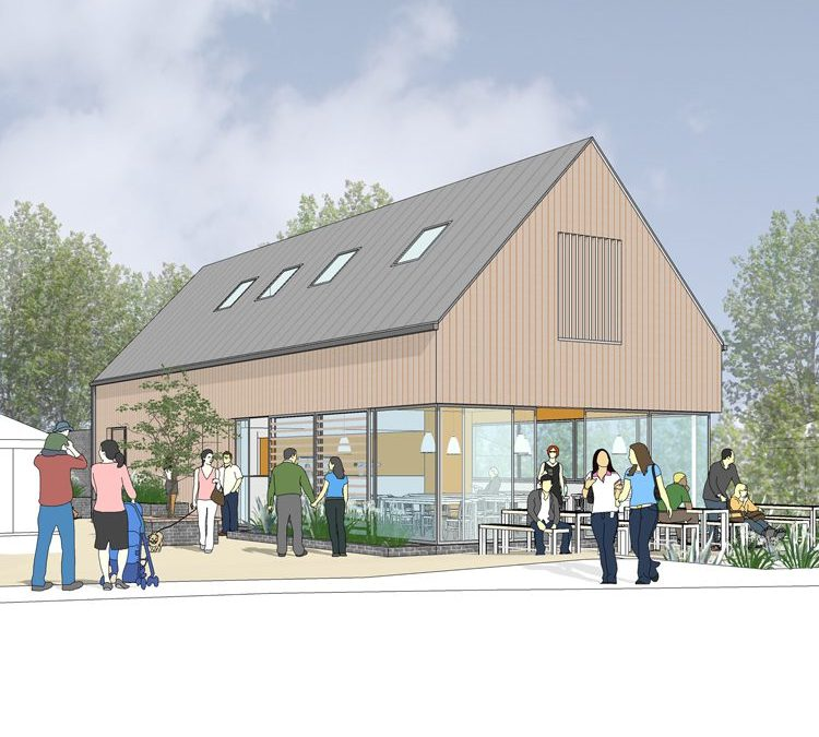 cafe in crossways - architects dorchester
